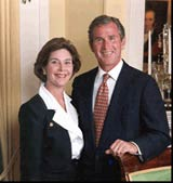 [Photo of the George and Laura Bush blocked by pornsweeper filtering software]